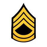 3'' SGT 1ST CLASS 3 UP 2 DOWN MEDIUM GOLD AND BLAC