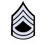3'' SGT 1ST CLASS 3 UP 2 DWN SILVER AND BLACK