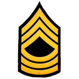 3'' MASTER SGT 3 UP 3 DWN LIGHT GOLD AND BLACK