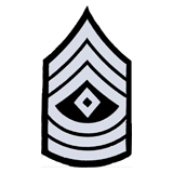 3'' SGT 1ST CLASS 3 UP 3 DWN DIAMOND SILVER AND BL