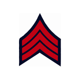 3'' SGT 3 UP RED AND NAVY