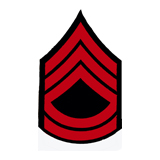 3'' SGT 1ST CLASS 3 UP 2 DWN RED AND BLACK