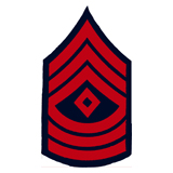 3'' SGT 1ST CLASS 3 UP 3 DWN DIAMOND RED AND NAVY