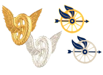 MOTORCYCLE POLICE INSIGNIA PINS