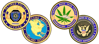 Marlin Tactical Challenge Coins, Tribute Coins, Retired Police Officer, Federal Drug Task Force