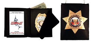 Marlin Tactical badge wallets