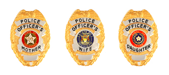 POLICE OFFICER FAMILY BADGES